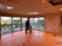 Flooring ready to be laid for installation of Liquid Space Design designer kitchen at renovation project in Oxfordshire
