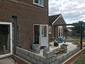 Extension build and kitchen installation in Oxfordshire, designed and installed by Liquid Space Design.