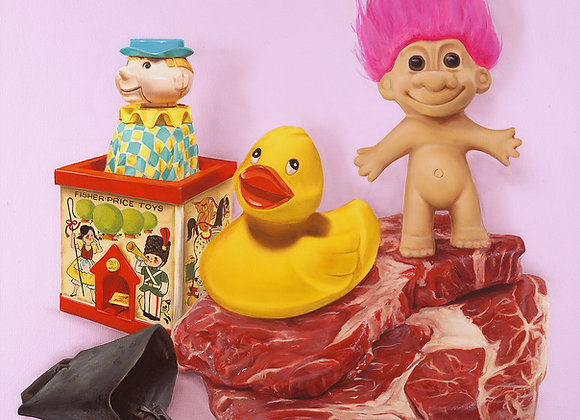 Toys In Meat Land Painting