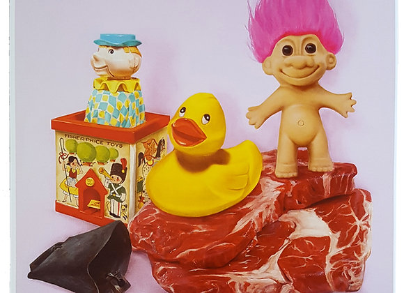 Toys In Meat Land Print