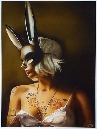 Bunny In Paradise Print