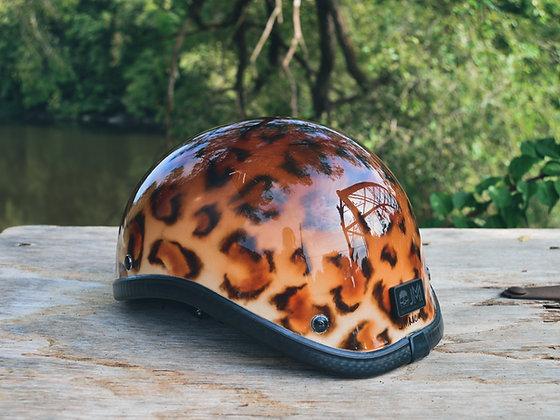 Leopard Print Novelty Helmet