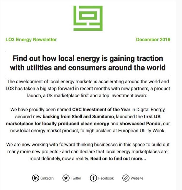 NEWSLETTER | LO3 Energy
