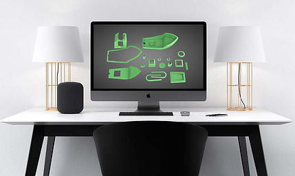 Model 3D wyświetlany w oprogramowaniu do projektowania