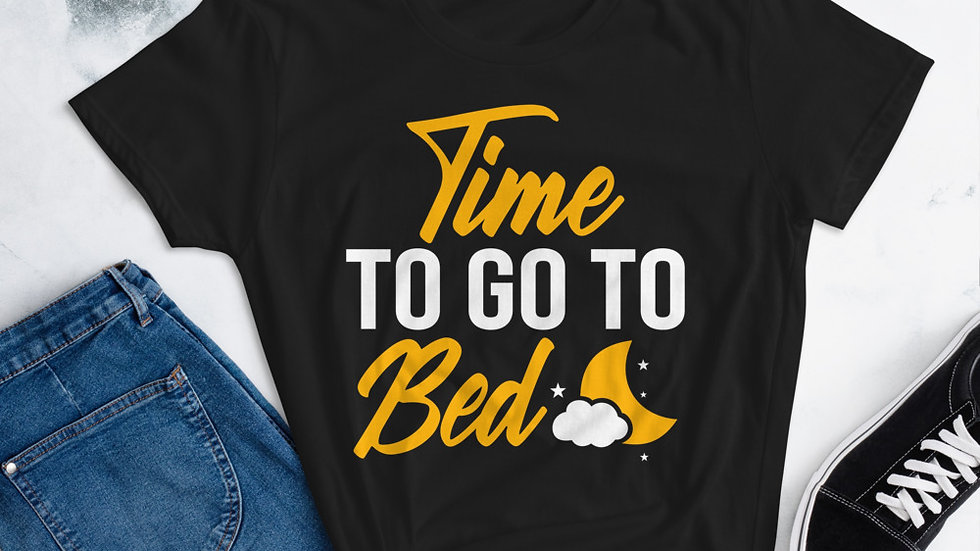 """Mommy's """"Time To Go To Bed """" short sleeve t-shirt"""