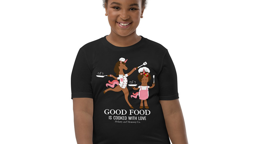 "Youth ""Good Food is Cooked with Love"" Short Sleeve T-Shirt"