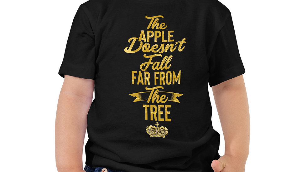 "Toddler ""The Apple Doesn't Fall from The Tree"" Short Sleeve Tee"