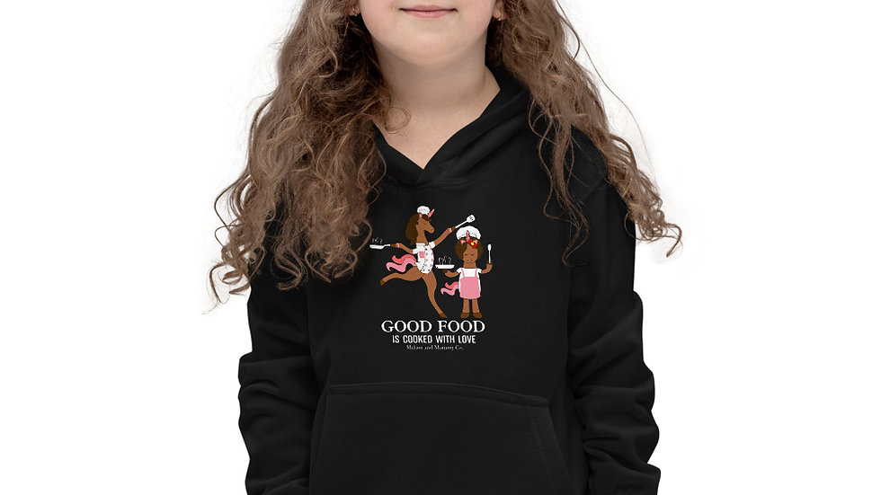 "Kids ""Good Food is Cooked with Love"" Hoodie"