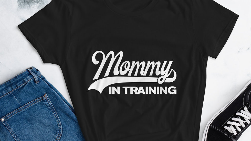 "Mommy's ""Mommy in Training "" short sleeve t-shirt"