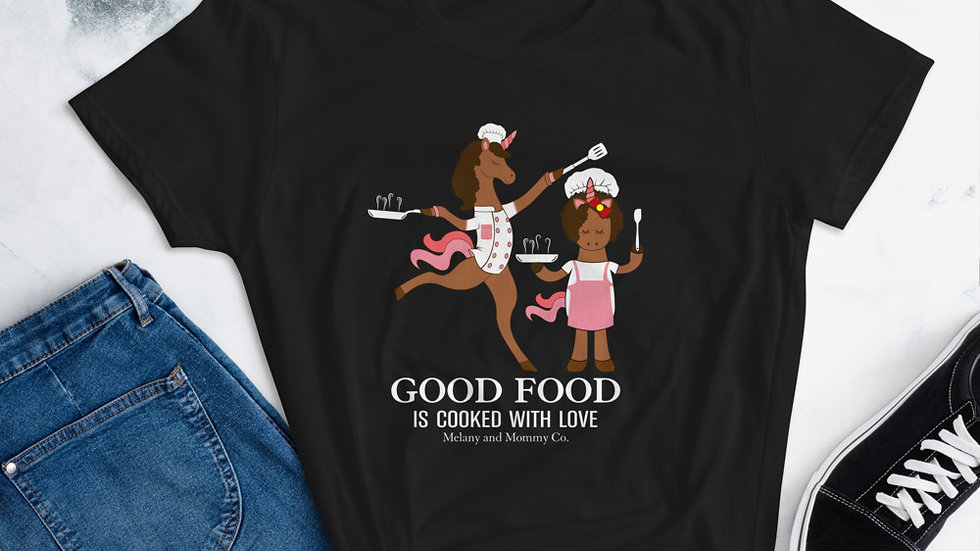 "Mommy's ""Good Food is Made With Love"" short sleeve t-shirt"