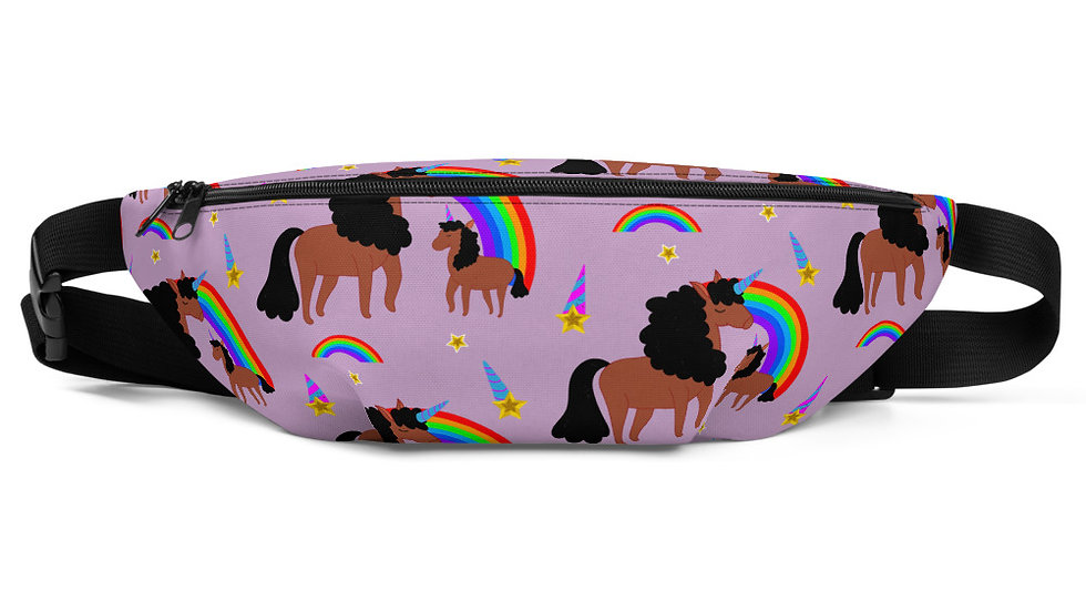"""All-Over Print """"Melany and Mommy"""" Fanny Pack Purple"""