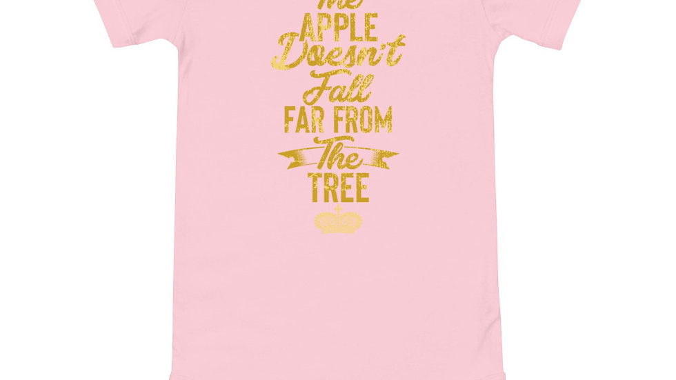 "Baby ""The Apple Doesn't Fall far from the Tree"" short sleeve one piece"