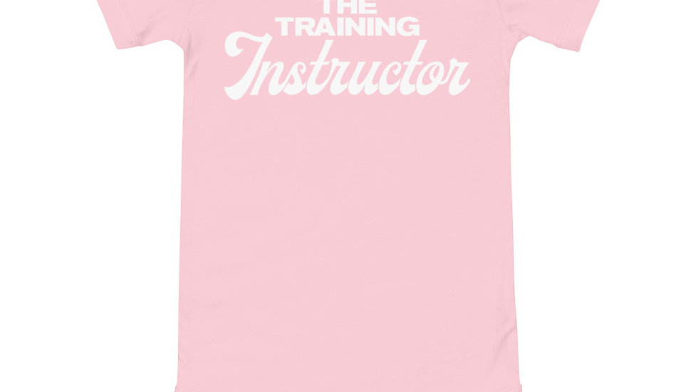 """Baby """"The Training Instructor"""" short sleeve one piece"""