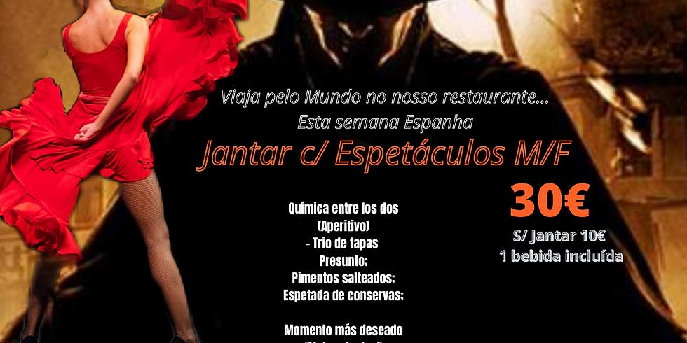 Viagem pelo Mundo no Magic Moments Restaurant - País -Espanha -