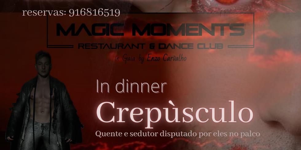 Crepúsculo in Dinner - Vampiros e Vampiras com um ambiente quente, selvagem e sedutor, disputado por eles no palco