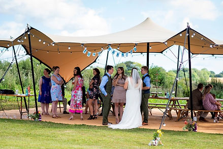 Stretch Tent at wedding, Stretch Tent hire, Micro weddings