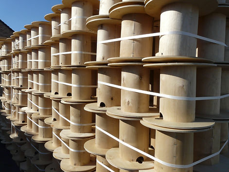 plywood reels for cable and wire, plywood spools