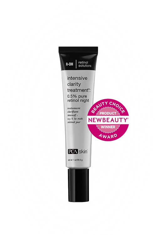 Intensive Clarity Treatment�: 0.5% pure retinol night