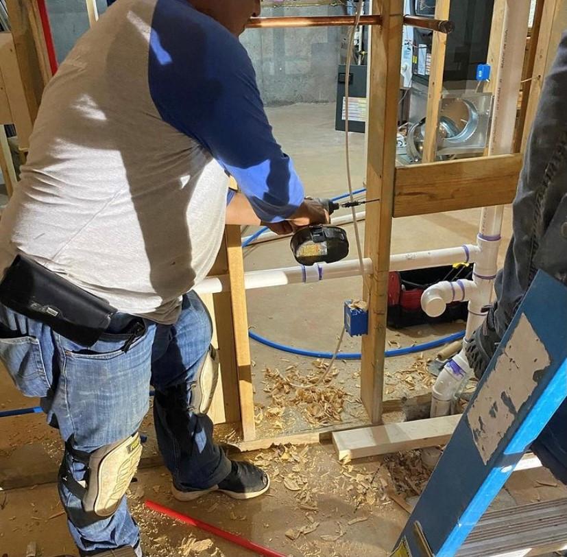 Unfinished basement plumbing