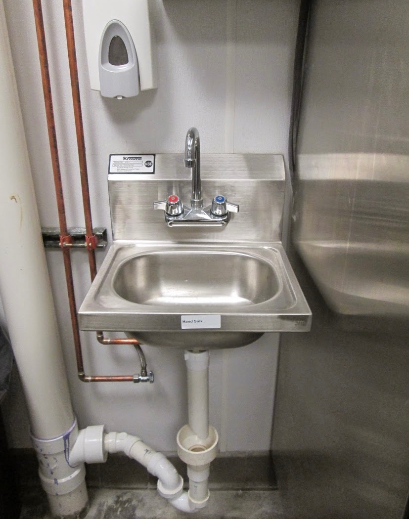 Commercial sink install
