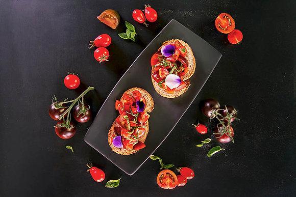 Bruschetta with Twin Tomatoes