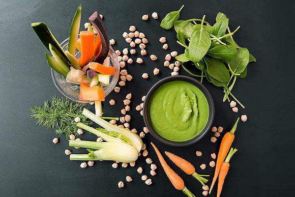 Spinach Hummus & Crudité