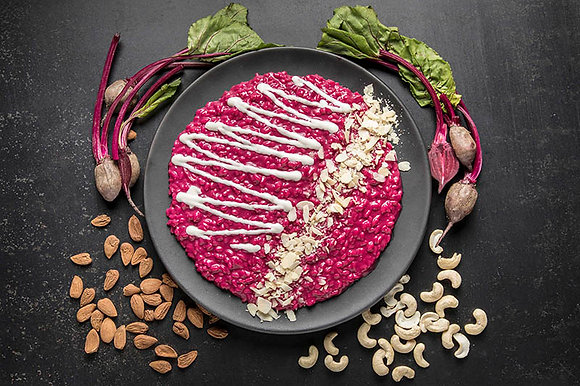 Pink & White Risotto