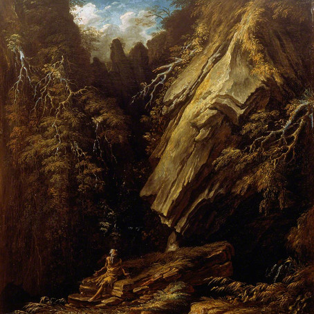 'Landscape with a Hermit' by Salvator Rosa