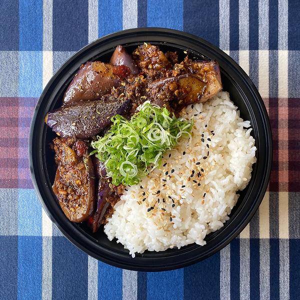 CHIKO Garlic Eggplant Over Rice.jpg