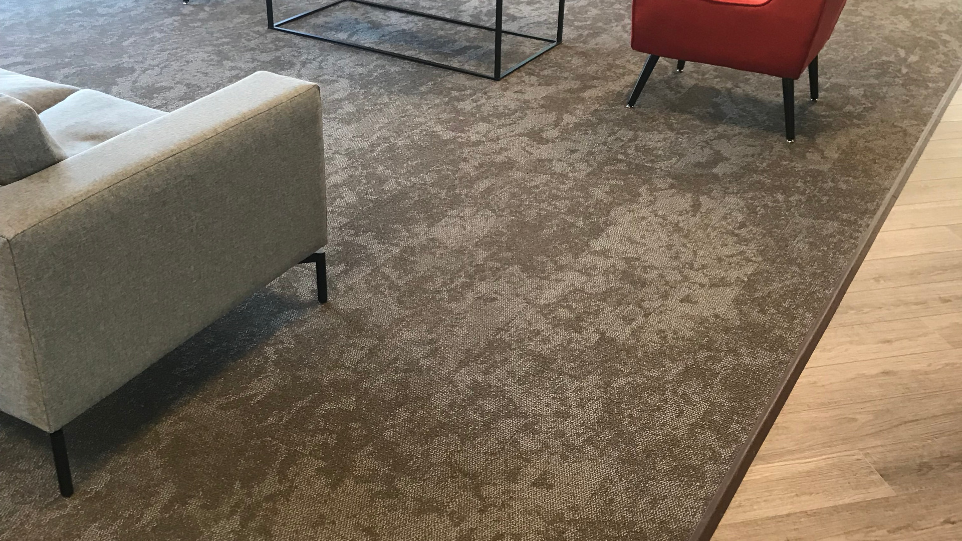 Commercial Carpeting with Luxury Vinyl Plank