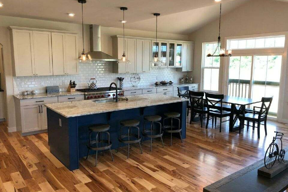 Hardwood Flooring and Backsplash