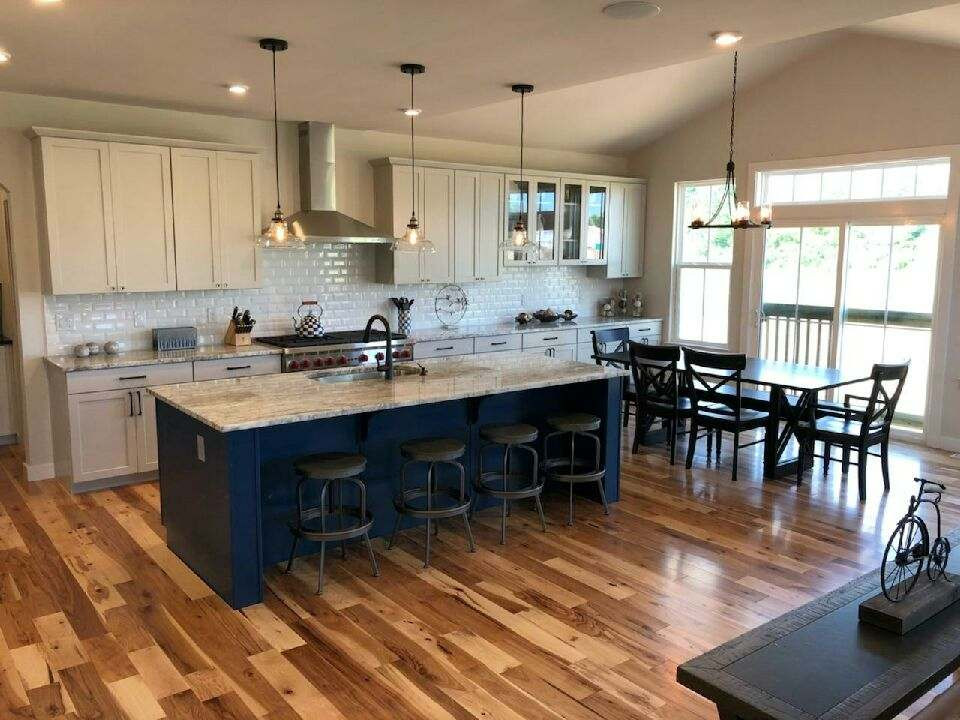 Hardwood Flooring and Backsplash