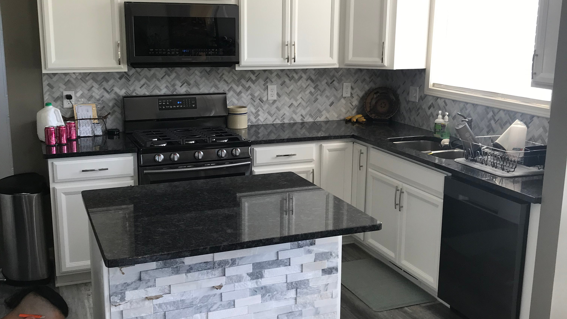 Backsplash and Luxury Vinyl Plank