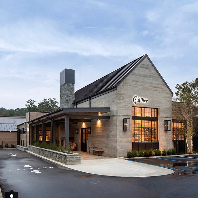 Concrete Structure with Medal Roofing - Retail & Res Design Inspiration