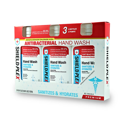 Liquid Hand Wash (16oz) - 3 Pack