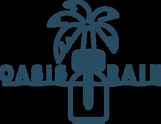 Oasis Rain Logo Waves No Circle (Blue) (