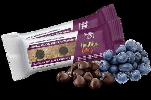 Almond Blueberry Dark Chocolate Box of 12
