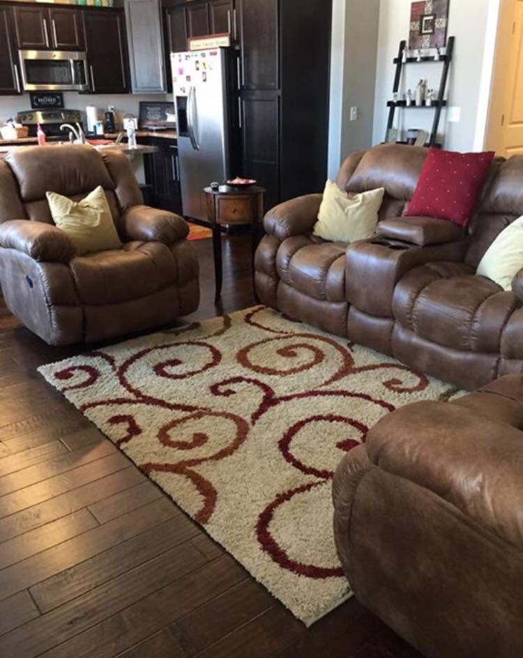 Custom Decorator home with our Reclining Sofa and Love seat