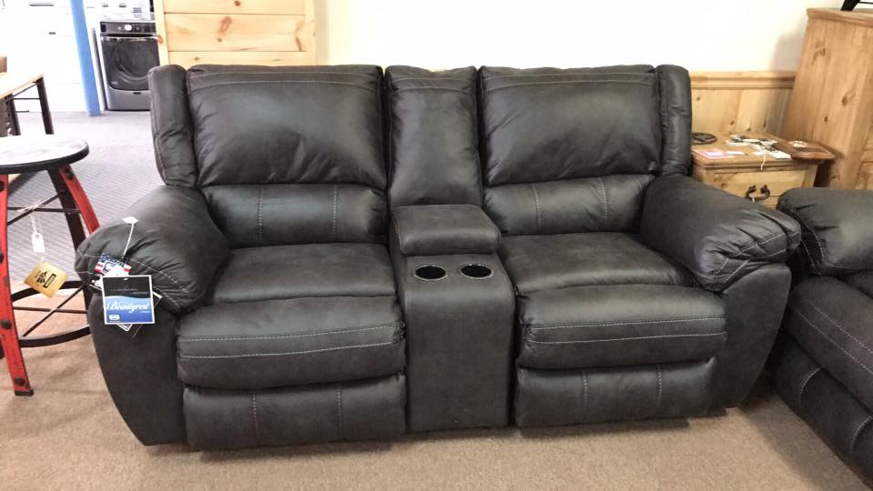 Simmons granite reclining sofa