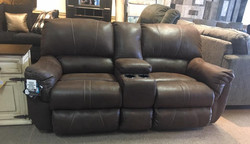 Love seat with storage and cup holders from Simmons
