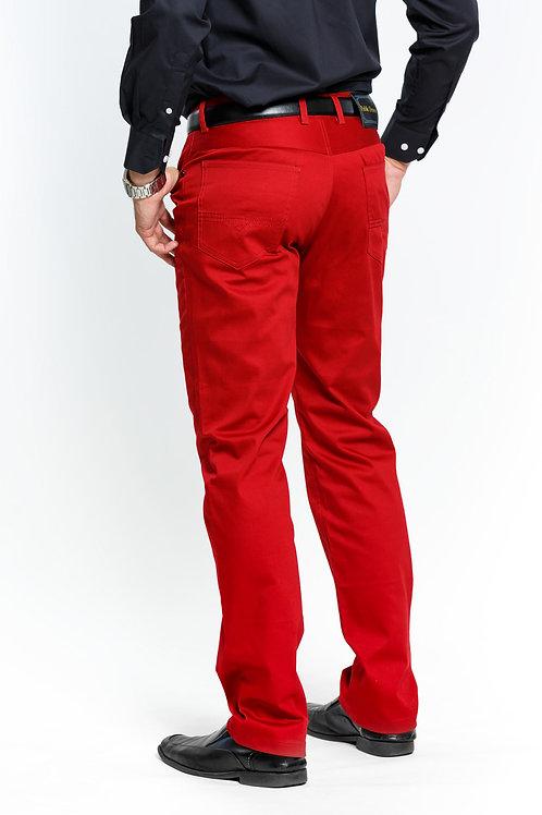 COP600 I PRESTIGE COTTON PANTS I RED