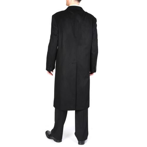 4d5a6247d66509 L40913C I Pronto Moda Men's 'Harvard' Camel Cashmere Blend Long Top Coat
