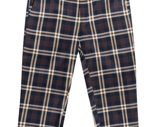 C58 I BARABAS PLAID PANTS SLIM FIT I NAVY/CREAM