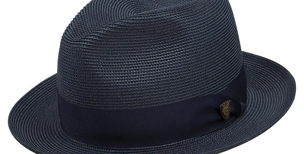 DOBBS I ROSEBUD STRW HAT I NAVY