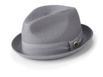 H-55 I MONTIQUE STRAW HAT I GREY