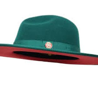 MO-201 I BRUNO MONARCH HAT I GREEN /RED