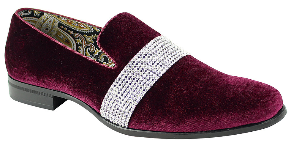 AFTER MIDNIGHT SHOES | 6715 | BURGANDY/SILVER