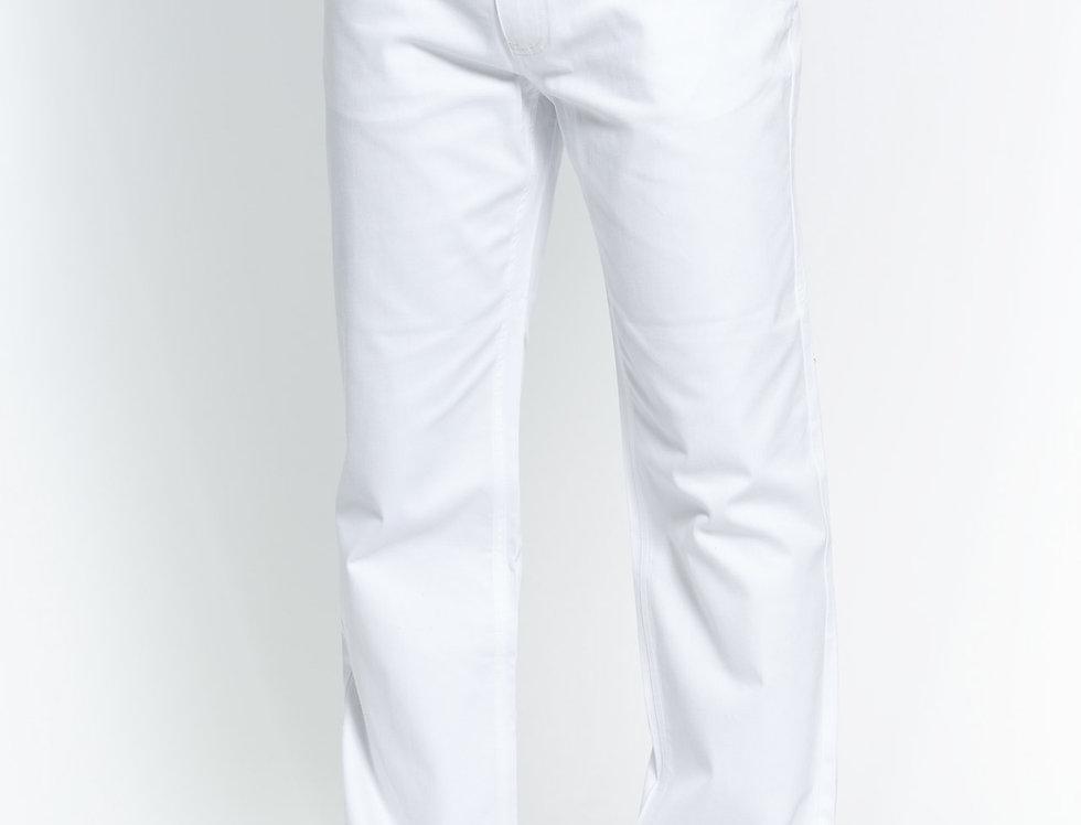 COP600 I PRESTIGE COTTON PANTS I WHITE