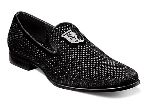 STACY ADAMS I 25228 I SWAGGER Studded Slip On I BLACK