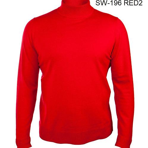 SW-195 I PRESTIGE LS TURTLE NECK SWEATER I RED